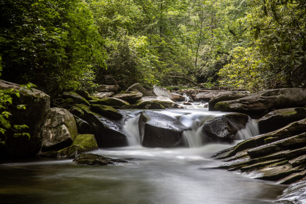 One of the smaller falls downstream from Whaleback falls